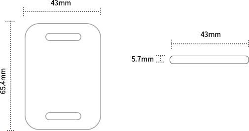 The Dimensions of H5 RFID Beacon Tag