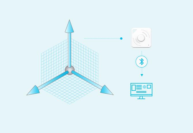 H1 3-axis Beacon acceleration sensor for Information Recording