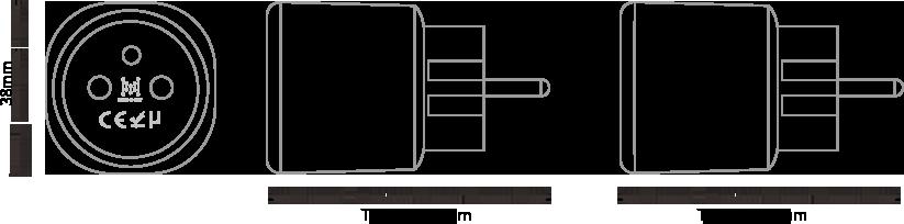 The Dimensions of MK105 Bluetooth Gateway