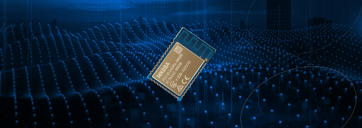 the Video of MK08 NRF52 Module Supporting Bluetooth Low Energy - MK08A