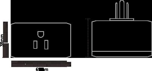 The Dimensions of MK110 Bluetooth Gateway