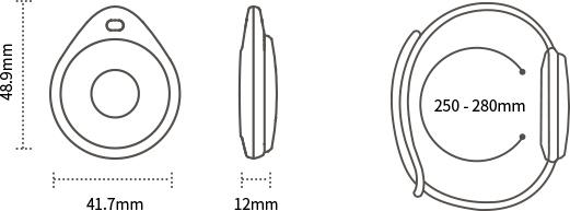 Three views of Bluetooth Wristband Beacon W6